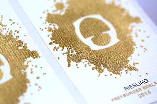 Etichetta a lamina dorata