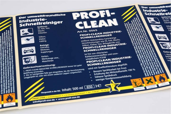 Etichetta per prodotti chimici