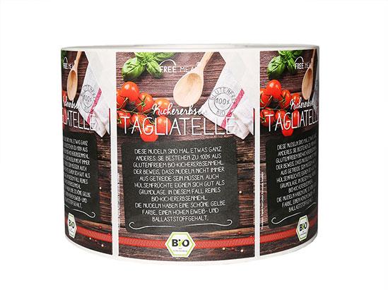 Etichette in bobina per prodotti agroalimentari
