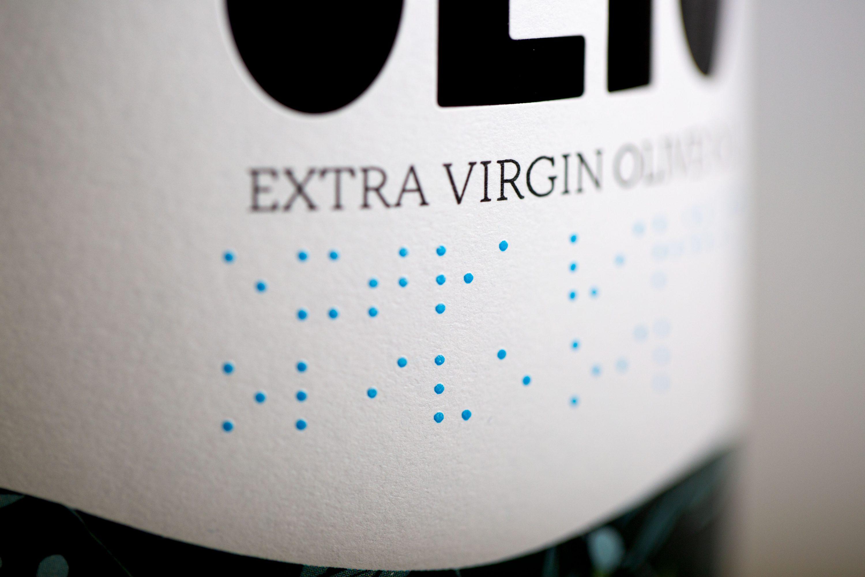 Etichette per olio braille