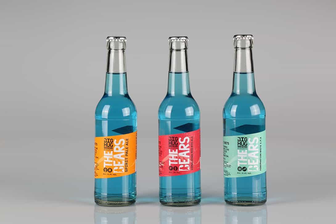 Etichette per bottiglie in vari colori